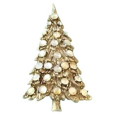 Sparkle Vintage Christmas Tree Pin