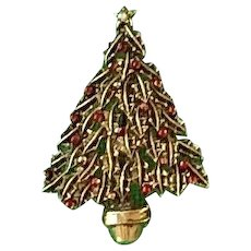 Vintage Christmas Tree Pin.