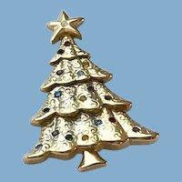 Christmas Tree Pin of Pearls