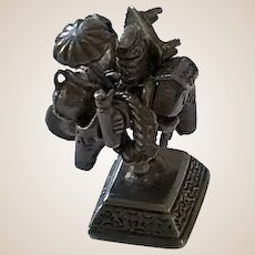 Sterling Silver Merchant Charm Statue-Moveable