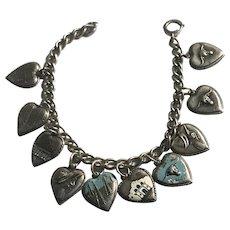 Sterling Silver TEXAS Charm Bracelet