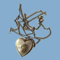 MOP Heart Locket Necklace