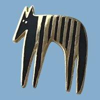 Laurel Burch Enamel Horse Brooch