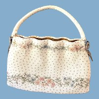 Vintage Floral Glass Micro Bead Handbag/Purse