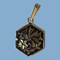 Hexagon Damascene Charm/Pendant