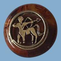 Rootbeer Bakelite Pin, Scarf Holder