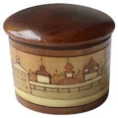 Russian Hand carved Wood Box