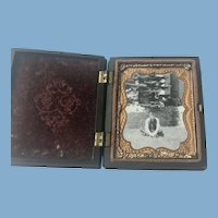Antique Thermoplastic Gutta Percha Photograph Case