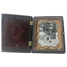 Antique Thermoplastic Gutta Percha Photograph Case