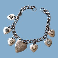 Silver Heart Charm Bracelet - Our Father