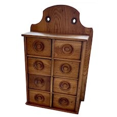 Antique Primitive Spice Cabinet