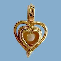 Pendant Heart with Faux Pearl