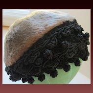 Hattie Carnegie Vintage Beaver Hat