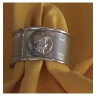 Vintage Silver Plate Napkin Ring-Trojan
