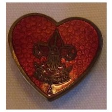 Guilloche Vintage Heart Boy Scout Life Pin