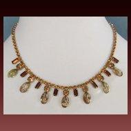 Vintage Rhinestone and Beaded Necklace