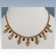 Vintage Rhinestone and Beaded Necklace
