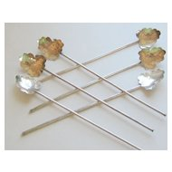 Six Sterling Silver Vintage Ice Tea Spoons