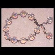 Sparkling Vintage 12mm Crystal Glass Bracelet