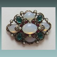 "Gorgeous Vintage ""Emmons"" Moonstone Brooch"