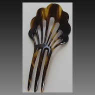 Vintage Celluloid Faux Tortoiseshell Hair Comb