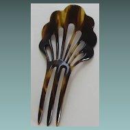 Vintage Celluloid Faux Tortoiseshell Hair Comb