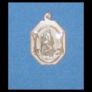 Sterling Silver Vintage St Christopher Medal