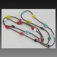 Vintage Italian Glass Bead Necklace