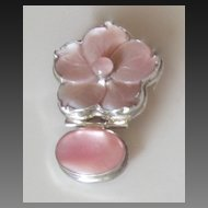 Sterling Silver Vintage Pink Mother Of Pearl Enhancer/Pendant