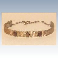 Vintage Gold Tone Mesh Choker Necklace