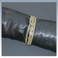 Three Strands Gold Tone Mesh Chain Bracelet