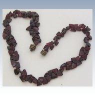 Vintage Garnet Choker Necklace