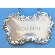 Vintage Sterling Silver SCOTCH Liquor Tag