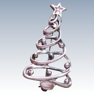 Sterling Silver Christmas Tree Pin