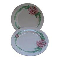 "2 Greenbrier Resort Hotel Dorothy Draper Ribbon Homer Laughlin China 11"" Plates"