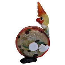 Stunning Murano Glass Clown Playing Drum