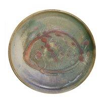 Harding Black Pottery Large Fish Plate