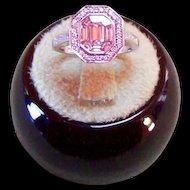 1.35 Carat Laser Set Diamond Ring in 14Kt. White Gold
