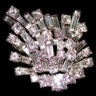 New REDUCTION~~Art Deco Platinum and 5.20 Carat Diamond Brooch & Pendant