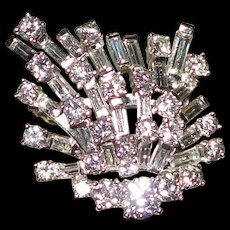 New REDUCTION~~Art Deco Platinum and 5.20 Carat Diamond Brooch & Pendant