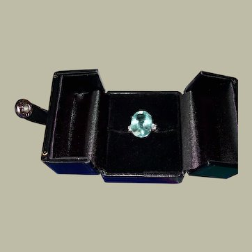 Paraiba Tourmaline and Diamond Ring set in Platinum ~~GIA CERTIFICATE~~ JULY 5th MARKDOWN