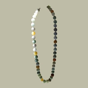 NATURAL Multi colored Jade Necklace