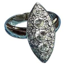 Navette Diamond Ring in 14KT White Gold