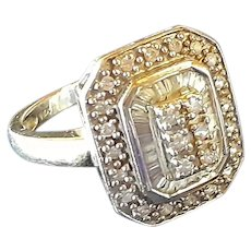 Deco Style Diamond Ring in 14KT White Gold