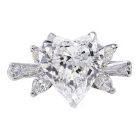 GIA 2.54ct Vintage HEART Shape Diamond ENGAGEMENT Wedding Anniversary Ring 18k