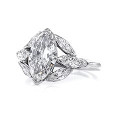 GIA D-VS2 Art Deco 3.00ct Old OVAL Moval Cut Diamond Engagement Platinum Antique Vintage Ring