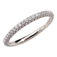 1.30ct Platinum 3 Row Pave Diamond Full Eternity WEDDING ANNIVERSARY Band Ring