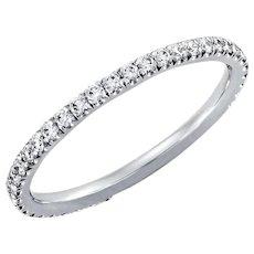 Diamond Wedding Band .40ct Round Diamonds Eternity Platinum Ring Wedding Anniversary Band