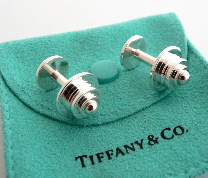 6f0b3a4f5 Authentic TIFFANY & Co Paloma Picasso Sterling Silver Tiered Pyramid :  Treasurly by Dima | Ruby Lane