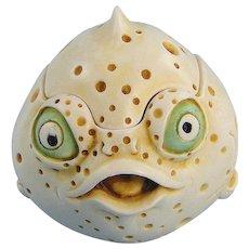Harmony Kingdom Monica Roly Poly Fish Box Figurine Adam Binder